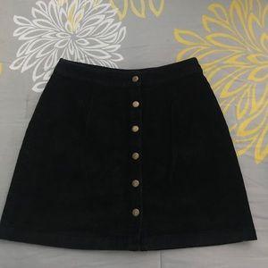 Tobi ILYN Black Corduroy Skirt